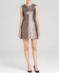 Diane von Furstenberg Dress - Yvette Metallic - Lyst