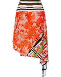 Preen Fringe Turkana Skirt in Red Flower Scarf - Lyst