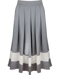 Kelly Love - Sweet Southern Silk Midi Skirt - Lyst