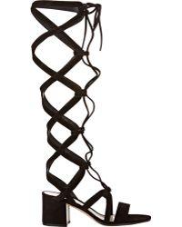 Gianvito Rossi | Women's Knee-high Gladiator Sandals | Lyst