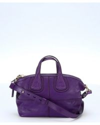 Givenchy Purple Leather 'Nightingale' Convertible Mini Satchel - Lyst