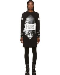 Hood By Air Black Elongated Side_vent T_shirt - Lyst