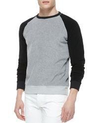 Theory Raglan-sleeve Sweatshirt - Lyst