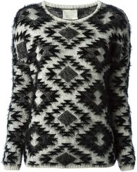 Forte Forte Geometric Pattern Sweater - Lyst