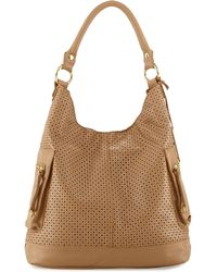 Linea Pelle   Dylan Perforated Leather Hobo Bag   Lyst