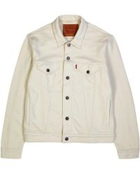 Levi's - Cream French Terry Jacket - Lyst