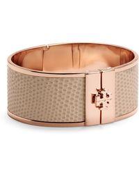 Tory Burch Skinny Leather Inlay Bracelet - Lyst