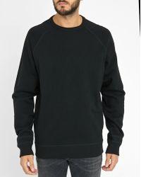 DIESEL | Black S-ore Embossed Print Round-neck Sweatshirt | Lyst