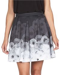 Cece by Cynthia Steffe - Floral Pleated Skirt - Lyst