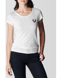 True Religion Crafted with Pride Womens Tee - Lyst