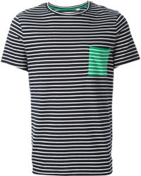 Chinti & Parker Striped Front Pocket T-Shirt - Lyst