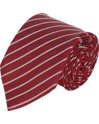 Armani Diagonal-stripe Jacquard Neck Tie - Lyst