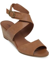 Lucky Brand Women'S Jemini Wedge Sandals - Lyst