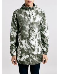 Topman Marble Camouflage Pack-Away Lightweight Parka - Lyst