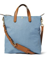Mismo Leathertrimmed Canvas Tote Bag - Lyst