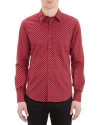 Barneys New York Floral Medallionprint Shirt - Lyst