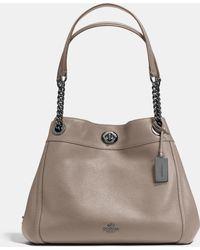COACH | Turnlock Edie Shoulder Bag In Pebble Leather | Lyst