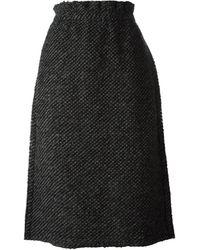 Comme Des Garçons Textured Skirt - Lyst