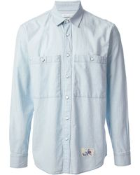 Marc Jacobs Blue Denim Shirt - Lyst