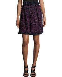 M Missoni Pleated Multicolor Tweed Skirt - Lyst