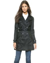 7 For All Mankind Trench Coat - Fashion Rinse Denim - Lyst