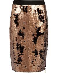 Ted Baker Zip Detailed Sequin Skirt - Lyst