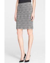 St. John Novelty Tweed Pencil Skirt - Lyst