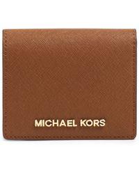MICHAEL Michael Kors Jet Set Travel Flap Card Holder - Lyst