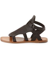 Bottega Veneta Woven Leather Gladiator Sandal - Lyst