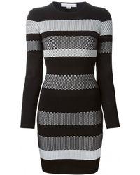 Alexander Wang Striped Mesh Dress - Lyst