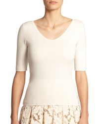 Michael Kors Cashmere Scoopneck Sweater white - Lyst
