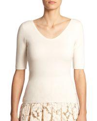Michael Kors Cashmere Scoopneck Sweater - Lyst