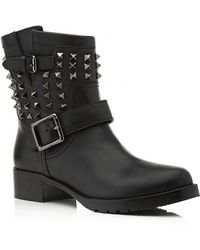 Valentino So Noir Biker Boot black - Lyst