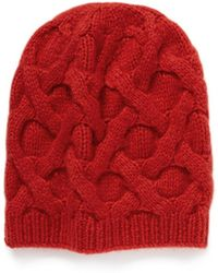Armand Diradourian - Honeycomb Cable Knit Cashmere Beanie - Lyst