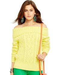 Polo Ralph Lauren Off-the-Shoulder Sweater - Lyst