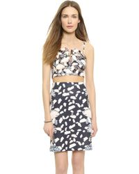 Opening Ceremony Painted Leaves Bustier - Blush Pink Multi - Lyst