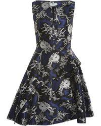 Kenzo Ruffled Jacquard A-line Dress - Lyst