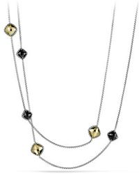 David Yurman Chatelaine Chain Necklace with Gold - Lyst