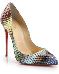 Christian Louboutin Pigalle Follies Watersnake Pumps - Lyst
