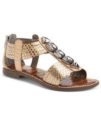 Sam Edelman 'Galina' Crystal Embellished Sandal - Lyst
