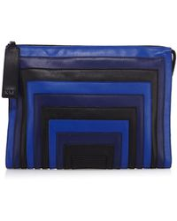 Karen Millen Maxi Colour Block Clutch - Lyst