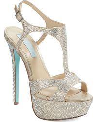 Betsey Johnson Crush Platform Sandals - Lyst