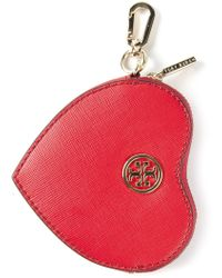 Tory Burch Heart Coin Kase Key Fob - Lyst