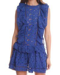 Zimmermann Hyper Eyelet Flip Dress blue - Lyst