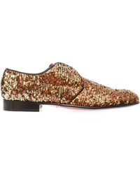 Dolce & Gabbana Sequinned Laceup Shoes - Lyst
