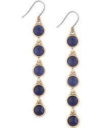 Lucky Brand - Lapis Linear Drop Earrings - Lyst