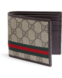 Gucci Gg Supreme Canvas Bifold Wallet - Lyst