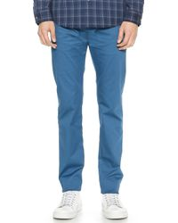 Marc By Marc Jacobs Smart Cotton Twill Pants - Lyst