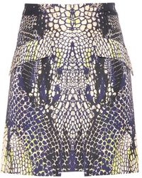 McQ by Alexander McQueen Cotton-blend Printed Skirt - Lyst