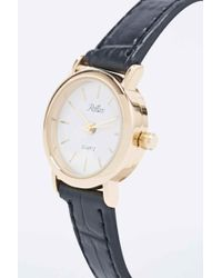 Reflex - Croc Black Strap Watch - Lyst